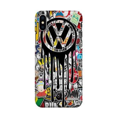 harga Indocustomcase VW Sticker Bomb Cover Hardcase Casing for iPhone X Blibli.com