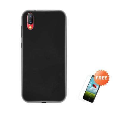 OEM Slim Softcase Casing for Vivo NEX 6.59 Inch - Hitam Solid + Free Tempered Glass