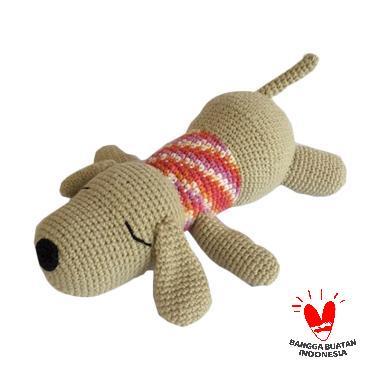 harga Dee Amigurumi Dogie Sleep Boneka - Merah Blibli.com
