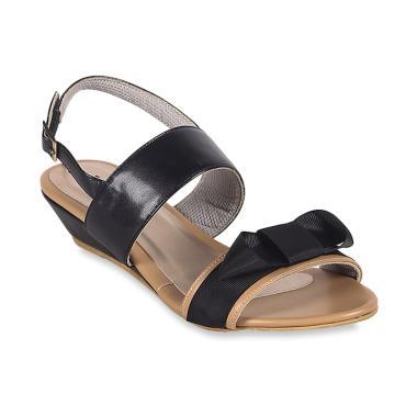 harga FARISH Maliny Wedges Sepatu Wanita - Black Blibli.com