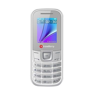 harga Strawberry Bomb Handphone [Dual SIM/ Radio FM] Putih Blibli.com