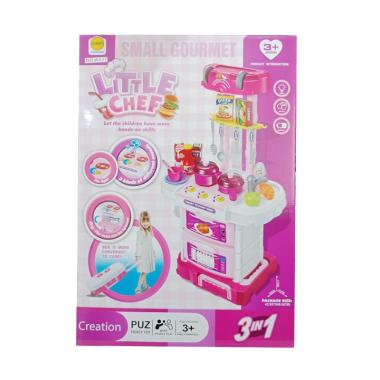 Pompy Chef Kitchen Koper 3in1 Set Mainan Anak - Pink d1964c072d