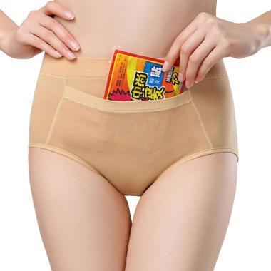 IIT Mid Waist Physiological Comfortable Warm Cotton Palace Pockets Baby  Leak Menstrual Hygiene Underwear Pants 7466af5b4e