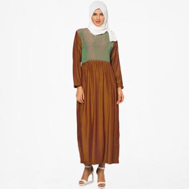 Mirtazani Nurhan Afkar Gamis Wanita - Coklat