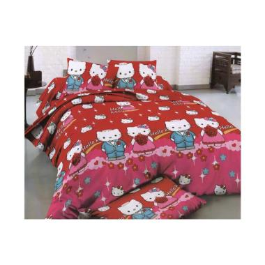 Rosewell 17-3163 Kitty Couple Microtex Set Sprei