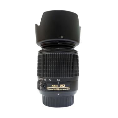 Nikon Nikkor AF-S DX 55-200mm F4-5.6G ED Lensa Kamera Hitam