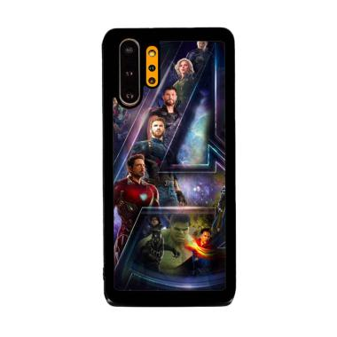 Cannon Case Avengers End Game Logo And Hero P1210 Custom Hardcase Casing for Samsung Galaxy Note 10+