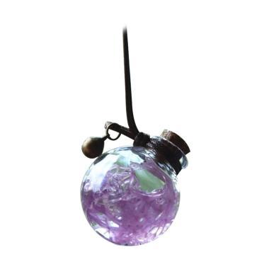 harga Bluelans 14 Car Vehicle Dry Flower Glass Perfume Empty Bottle Hanging Ornament Decor Gift Blibli.com