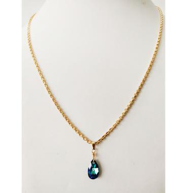 harga Nje Collection Kalung Nori Liontin Swarovski Biru Perhiasan Wanita [Lapis Emas 24K] Blibli.com