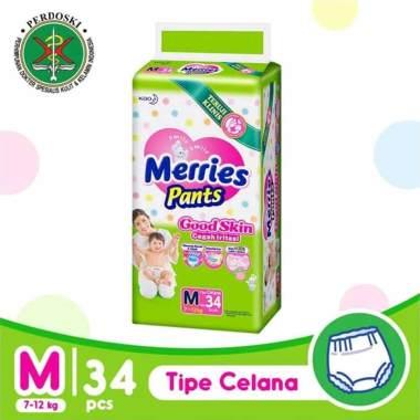 harga Merries Pants Good Skin Popok Bayi [Size M/ 34 pcs] Blibli.com