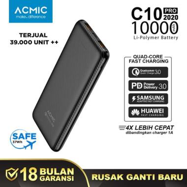 ACMIC C10PRO PowerBank [10000 mAh/ Quick Charge 3.0] + PD Power Delivery