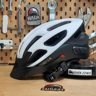 Sena R1 Evo With Intercom Helm Sepeda  - LED light