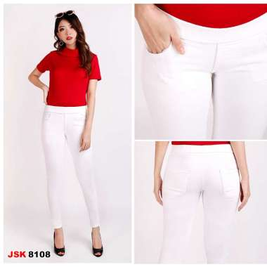 Jual Legging Jeans Putih Celana Panjang Legging Jeans Wanita Pinggang Karet Jumbo Big Size Jsk Jeans Murah September 2020 Blibli Com
