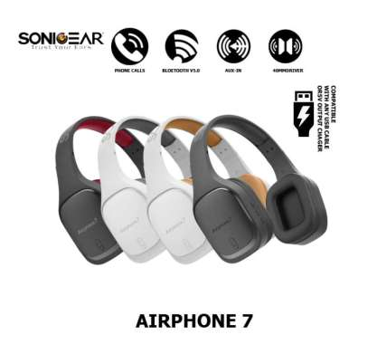 harga SonicGear Airphone 7 Bluetooth Headphones With Microphone - 200 MAH Variasi Blibli.com