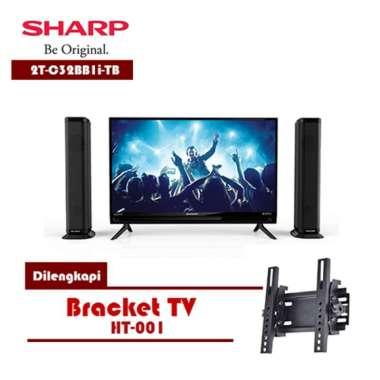 Sharp 2T-C32BB1i-TB Aquos LED TV 32 inch Dilengkapi Speaker - FREE BRACKET