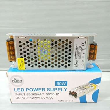 harga Hiled Switching 5A 12 Volt 60 W power supply trafo 12V 5 ampere 60watt Silver Blibli.com