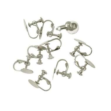 harga 10pcs Screw Base Blank Earrings Settings fit 10mm Cabochon Craft Glue On Pad Blibli.com