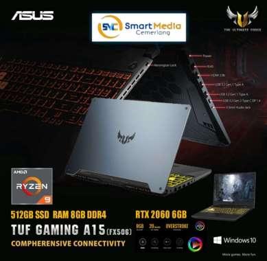 harga ASUS TUF GAMING A15 FX506IV-R9R6B6T|RYZEN 9-4900H|8GB|512GB|RTX 2060 fortress grey Blibli.com