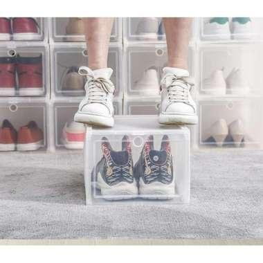 harga Kotak Sepatu Transparan / Kotak Sepatu Besar / Kotak Sepatu SNEAKERS Transparant XL - Blibli.com