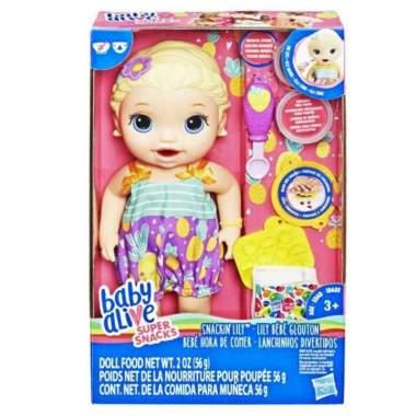 harga Mainan Boneka Baby Alive Snackin Lily ada Popok Sendok Blibli.com