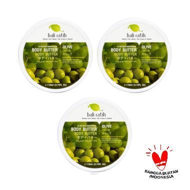 Bali Ratih Paket Body Butter - Olive [110 mL/3 pcs]