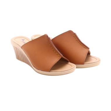 Dr Kevin 27315 Leather Sandals Sandal Wanita - Tan