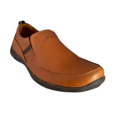 Formen FM 03 Kulit Loafers Formal Sepatu Pria - Tan