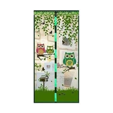 Home-Klik Tirai Magnet Anti Nyamuk Motif Owl - Hijau
