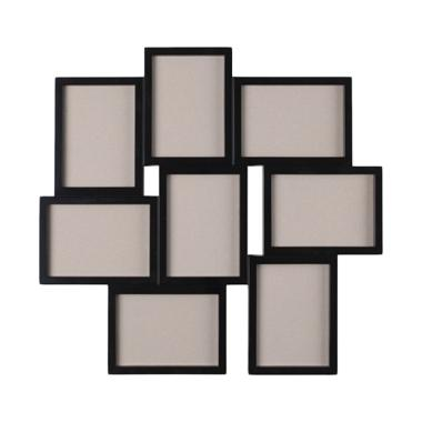 Ikea R Vaxbo Collage Frame for 8 Photos - Hitam [13 x 18 cm]