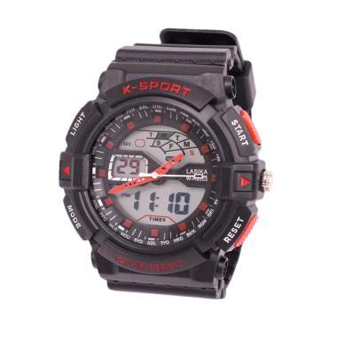 Lasika W-H 9003 Jam Tangan Digital Analog Unisex - Red