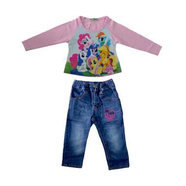 Lil Rose Pony Pink C Baju Setelan Anak - Pink
