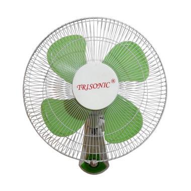Trisonic Wall Fan 1607 Kipas Angin - Hijau [16 Inch]