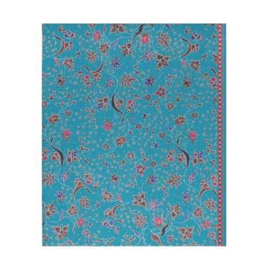 Cek Batik Motif Modern Bunga Manis - Blue Tosca