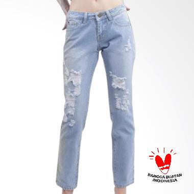 Ckey Jeans 722 Women Ripped Jeans - Light Blue