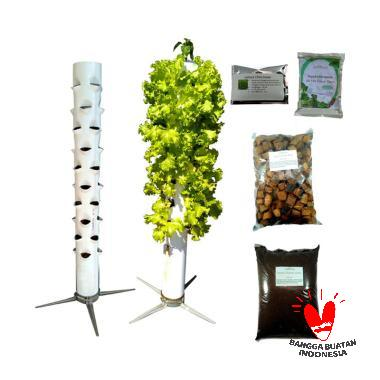 Puriegarden Portable Growing Tower [40 Lubang Tanam]