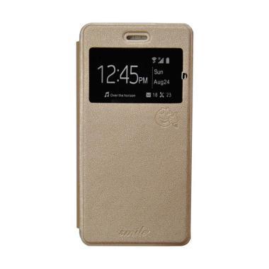 SMILE Flip Cover Casing for Xiaomi Mi Max - Gold