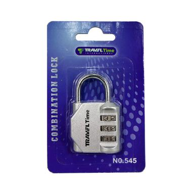 Traveltime Combination Lock 545 - Silver