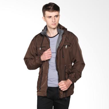 VM Parka Fashion Reversible 2in1 Jaket Pria - Coklat