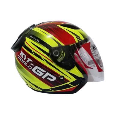 harga KYT DJ Maru World GP Helm Half Face - Fluo Yellow XL Blibli.com