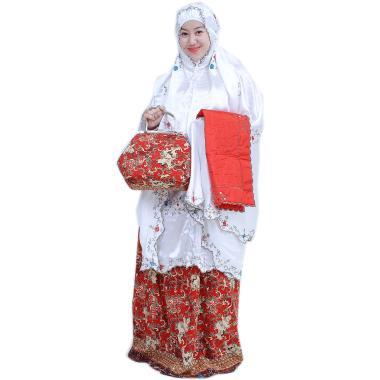 Yumna Mukena Behel Batik Cilembang - Merah