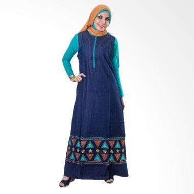Believe AG-21 Soft Jeans Baju Muslim Wanita - Blue