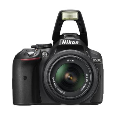 Nikon D3400 Lensa Kit 18-55mm VR Kamera DSLR - Hitam [24.2 MP]