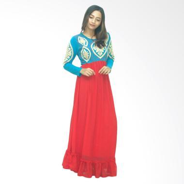 Ezpata Zuri Bordir Rajut Long Dress - Merah