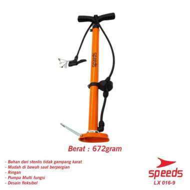harga Pompa Angin Manual Untuk Ban sepeda, motor atau lainnya Stainless 016-9 putih Blibli.com