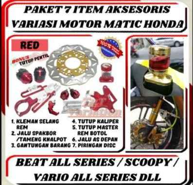 harga Paket 7 Item Aksesoris Variasi Motor Honda Beat/Beat FI/Vario/Vario 110/Vario 125/Vario 150/Scoopy MERAH Blibli.com