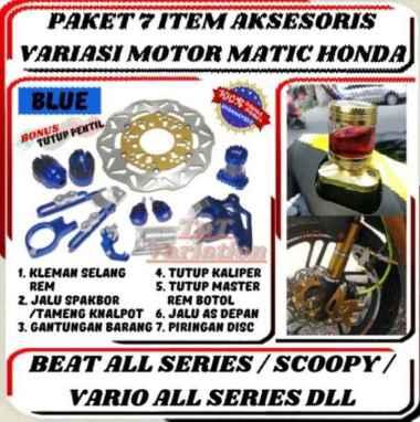 harga Paket 7 Item Aksesoris Variasi Motor Honda Beat/Beat FI/Vario/Vario 110/Vario 125/Vario 150/Scoopy BLUE Blibli.com