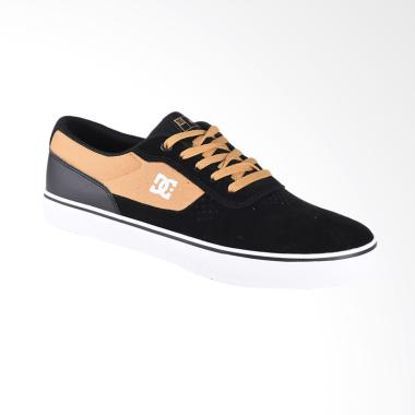DC Switch S M Shoe Sepatu Sneaker Pria - Black Oxblood ADYS300104-BO2