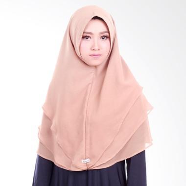 Atteena Hijab Khimar Radya Non Pet Jilbab Instant - Mocca