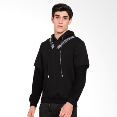 Papercut Men 08# Cliff Jaket Hoodie Pria - Black