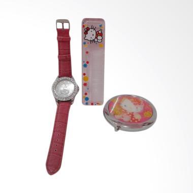 Hello Kitty HK-004 Paket Dandan Jam Tangan Wanita - Multicolor